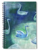 Moon Swans Spiral Notebook