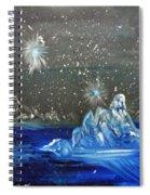 Moon With A Blue Dress Spiral Notebook