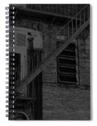 Moonlight Fire Escape Usa Near Infrared Spiral Notebook