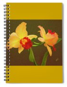 Moonlight Lady Orchid Spiral Notebook