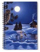 Moonlight Magig-great Horned Owls Spiral Notebook