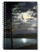 Moonlight On Yellowstone Lake Spiral Notebook
