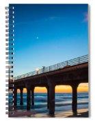 Moonlight Pier Spiral Notebook