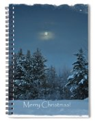 Moonlight Snow Spiral Notebook