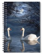 Moonlight Swim Spiral Notebook