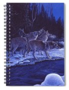Moonlight Visitors Spiral Notebook