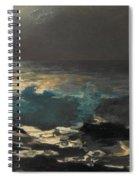 Moonlight. Wood Island Light Spiral Notebook