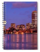 Moonlit Boston On The Charles Spiral Notebook