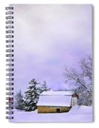 Moonlit Farm Spiral Notebook