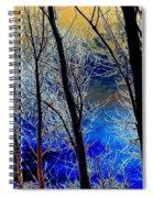 Moonlit Frosty Limbs Spiral Notebook