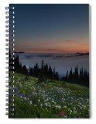 Moonlit Rainier Meadows Sunset Spiral Notebook