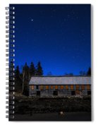 Moonlit Starscape At The Old Smokehouse Spiral Notebook