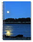 Moonrise Acadia National Park Spiral Notebook