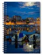 Moonrise In Karlskrona Spiral Notebook