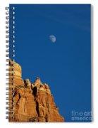 Moonrise Over Sandstone Spiral Notebook
