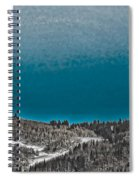 Moonrise Over The Mountain Spiral Notebook