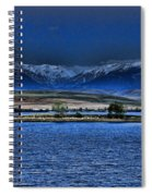 Moonset Over Cooney Spiral Notebook