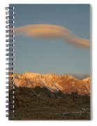 Moonset Over Mt Whitney Img 0637 Spiral Notebook