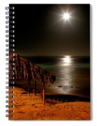 Moonset Over Windnsea Spiral Notebook