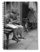 Boys Reading Comics In Moore Street Dublin Spiral Notebook