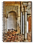 Moorish Chair And Alcove At The Alhambra Spiral Notebook