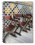 Moorish Tile Work At The Alhambra Spiral Notebook