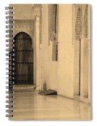 Moorish Walkway In Sepia At The Alhambra Spiral Notebook