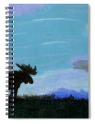 Moose - At - Sunset Spiral Notebook