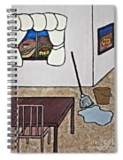 Essence Of Home - Mop And Bucket Spiral Notebook