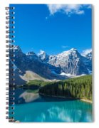 Moraine Lake At Banff National Park Spiral Notebook