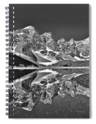Moraine Lake - Black And White Spiral Notebook