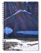 Moraine Lake Lens Flare Spiral Notebook