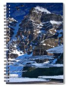 Moraine Lake Reflection Abstract Spiral Notebook