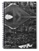 Moraine Lake Reflections - Black And White Spiral Notebook