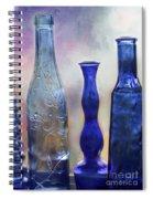 More Cobalt Blue Bottles Spiral Notebook