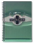 Morgan Car Emblem Spiral Notebook