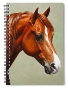 Morgan Horse - Flame Spiral Notebook