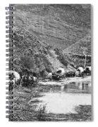 Mormon Emigrant Conestoga Caravan 1879 - To Utah Spiral Notebook