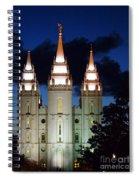 Mormon Temple Lds Utah Spiral Notebook