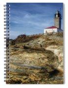 Morning At Beavertail Lighthouse Spiral Notebook