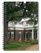 Morning At Monticello Spiral Notebook