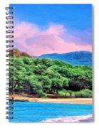 Morning At Papohaku Beach  Spiral Notebook