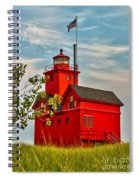 Morning At The Big Red Lighthouse Spiral Notebook