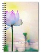 Morning Breeze And Beautiful Lotus Spiral Notebook
