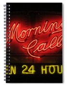 Morning Call Neon - New Orleans La Spiral Notebook
