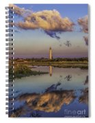 Morning Clouds At Cape May Light Spiral Notebook