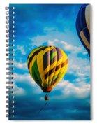 Morning Flight Hot Air Balloons Spiral Notebook