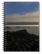 Morning Fog Burning Off At Quoddy Spiral Notebook