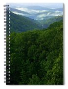 Morning Fog On Blue Ridge Spiral Notebook