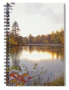 Morning Fog On The Lake Spiral Notebook